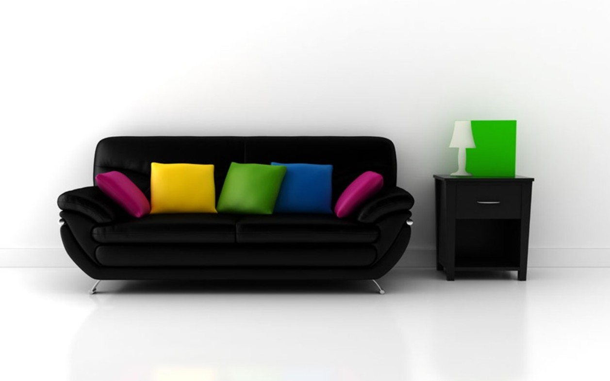 Colorful Sofas Simplicity Is The Keynote Of All True Elegance Wall